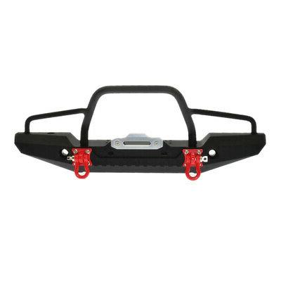 metal front bumper w winch mount leds