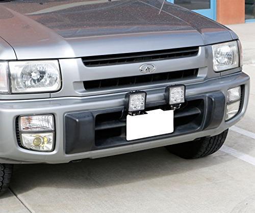 iJDMTOY Miniature Bumper License Holder Lights, LED Lamps, Lighting Bars,