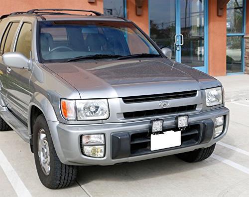 iJDMTOY Miniature Bumper License Plate Mount Holder For LED Lighting Bars, etc