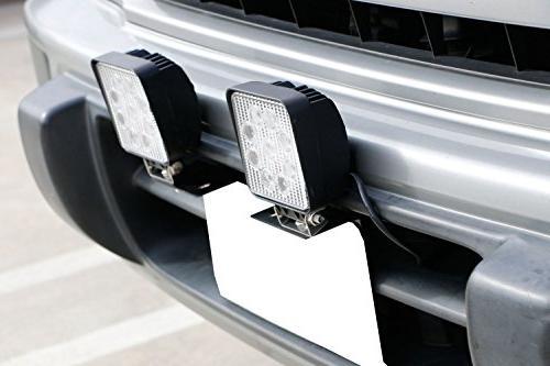 iJDMTOY Bumper License Plate Holder Off-Road LED Lamps, Lighting Bars,