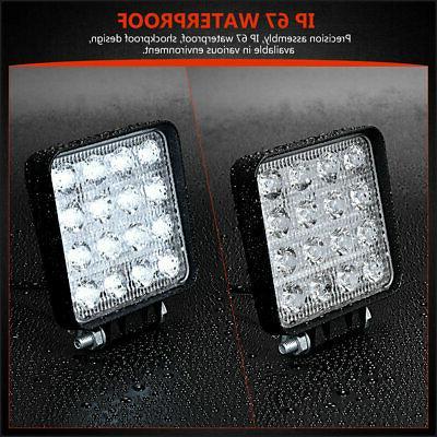"""Pair Spot Beam Led Work Light Driving Lights Front Bumper 6"""""""