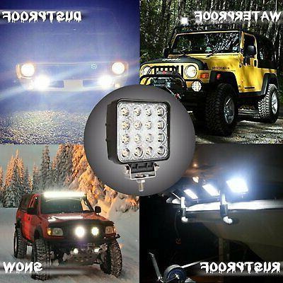 Pair Spot Work Light Driving Front