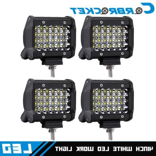 pair 4 48w cube spot beam led