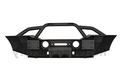Restyling Bumper With Fog Lights Hole Winch Plate Black Textured for JK