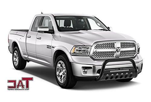 TAC Lighting Bull Bar Fits Dodge Truck Pickup Front Bumper Grille with Off-Road Lights