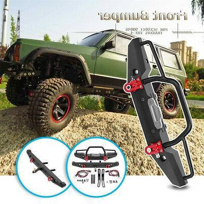 For SCX10II Car Front Bumper+Rear Bumper Lights