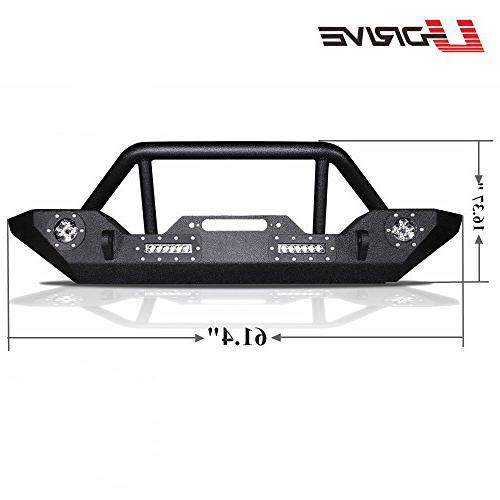 U-Drive Black Front LED Lights W/Winch Plate