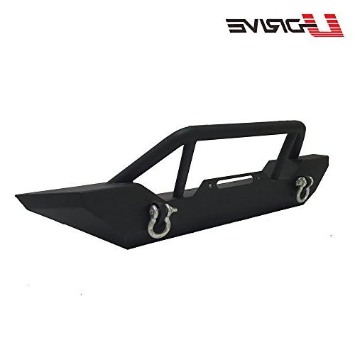 U-Drive Black Textured Front Guard for 2007-2019 JK W/Winch Plate