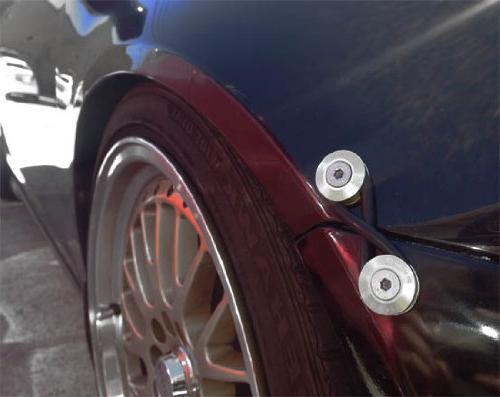 iJDMTOY Universal Fit Finish JDM Quick Fastener Bumper Lid