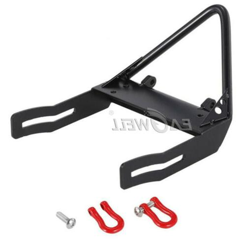 US Metal Front Bumper with Winch Mount Shackles For 1:10 Axi