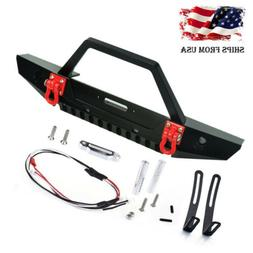 Metal Front Bumper w/ Winch Mount Shackles for AXIAL SCX10 1