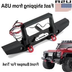 Metal Front Bumper Winch Mount light Tow Shackles For 1/10 R
