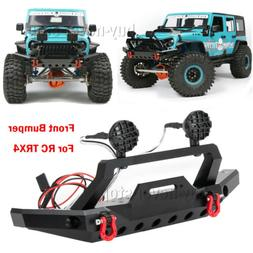 Metal Front Bumper with Led Light For Traxxas TRX4 Sport TF2