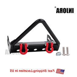 metal front bumper with winch mount shackles