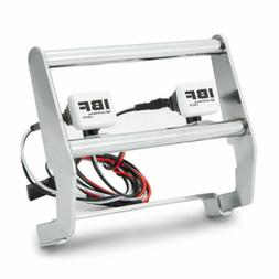 Metal Silver Front Bumper w/2LED Light for 1/10 RC Traxxas T