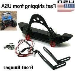 Metal Steel Front Bumper Winch Mount LED Light For Axial SCX