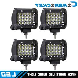 "Pair 4"" 48W Cube Spot Beam Led Work Light Driving Fog Lights"