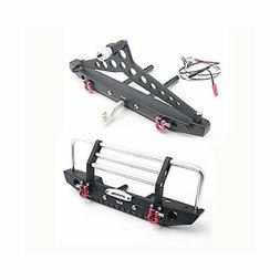 KYX Racing Alloy Front Rear Bumper Set for 1/10 RC Crawler S
