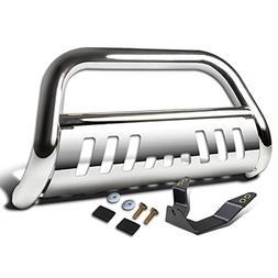 """For RAV4 XA30/XA40 3"""" Chrome Bumper Push Bull Bar + Skid Pla"""