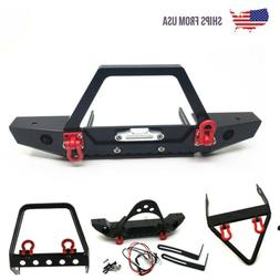 RC 1/10 Metal Front Bumper Winch Mount with Shackles for Axi