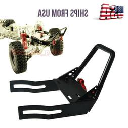 RC 1:10 Steel Front Bumper with Winch Mount Shackles For Axi