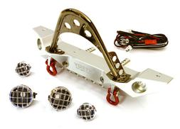 Integy Realistic Alloy Machined Front Bumper w/LED Lights: S