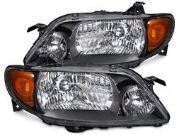 Headlights Depot Replacement for Mazda Protege 4-Door Sedan