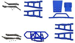 RPM Slash 4X4 Blue Front Rear A-Arms Steel Drive Shafts F &
