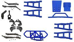 RPM Slash 4X4 Blue Front Rear A-Arms Hub Set Drive Shafts F