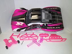 Traxxas Slash Pink Body, Springs, Wheelie Bar, and Bumpers A