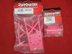 TRAXXAS STAMPEDE VXL / XL-5 PINK  skid plates + front bumper