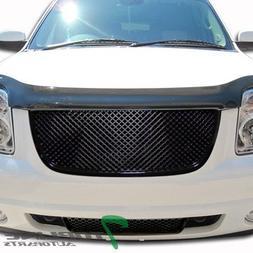Topline Autopart Black 3D Mesh Upper+Lower Front Hood Bumper