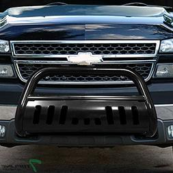 Topline Autopart Black Bull Bar Brush Push Front Bumper Gril