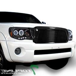 Topline Autopart Black Horizontal Billet Style Front Hood Bu
