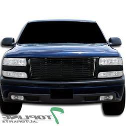 Topline Autopart Black Horizontal Front Hood Bumper Grill Gr