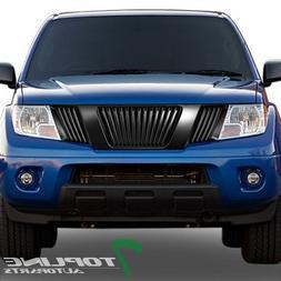 Topline Autopart Matte Black Vertical Front Hood Bumper Gril