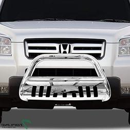 Topline Autopart Stainless Steel Chrome HD Heavyduty Bull Ba