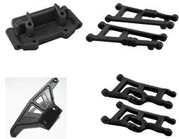 RPM Traxxas Rustler Complete Black Front/Rear Suspension Arm