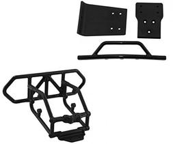 RPM Traxxas Slash 4X4 Black Front and Rear Bumper Kit 80122