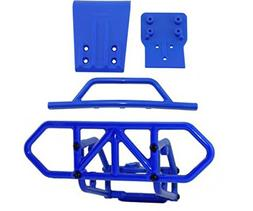 RPM Traxxas Slash 4X4 Blue Front and Rear Bumper Kit 80122 8