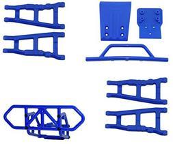 RPM Traxxas Slash 4X4 Blue Front & Rear Bumper Set & Front &