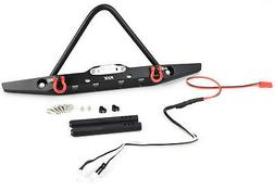 KYX Traxxas TRX-4 Metal Front Bumper W/ LEDS & Shackles
