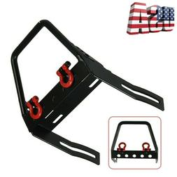 US Metal Front Bumper with Winch Mount Shackles for 1/10 Axi